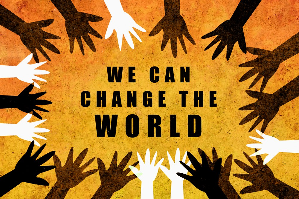 We Can Change the World Hands Up Sign